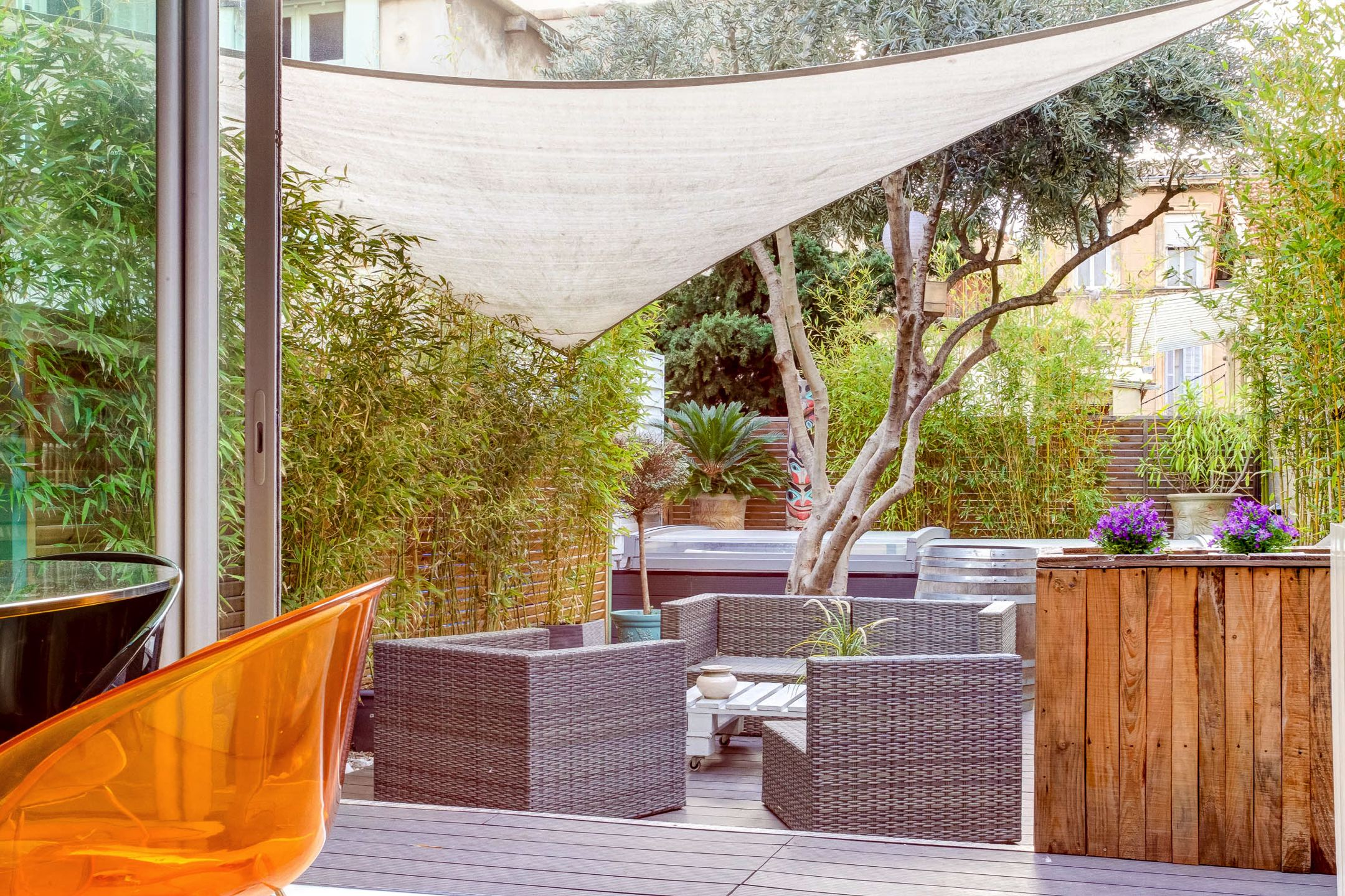 meilleur de jardin en terrasse sabakunohana. Black Bedroom Furniture Sets. Home Design Ideas