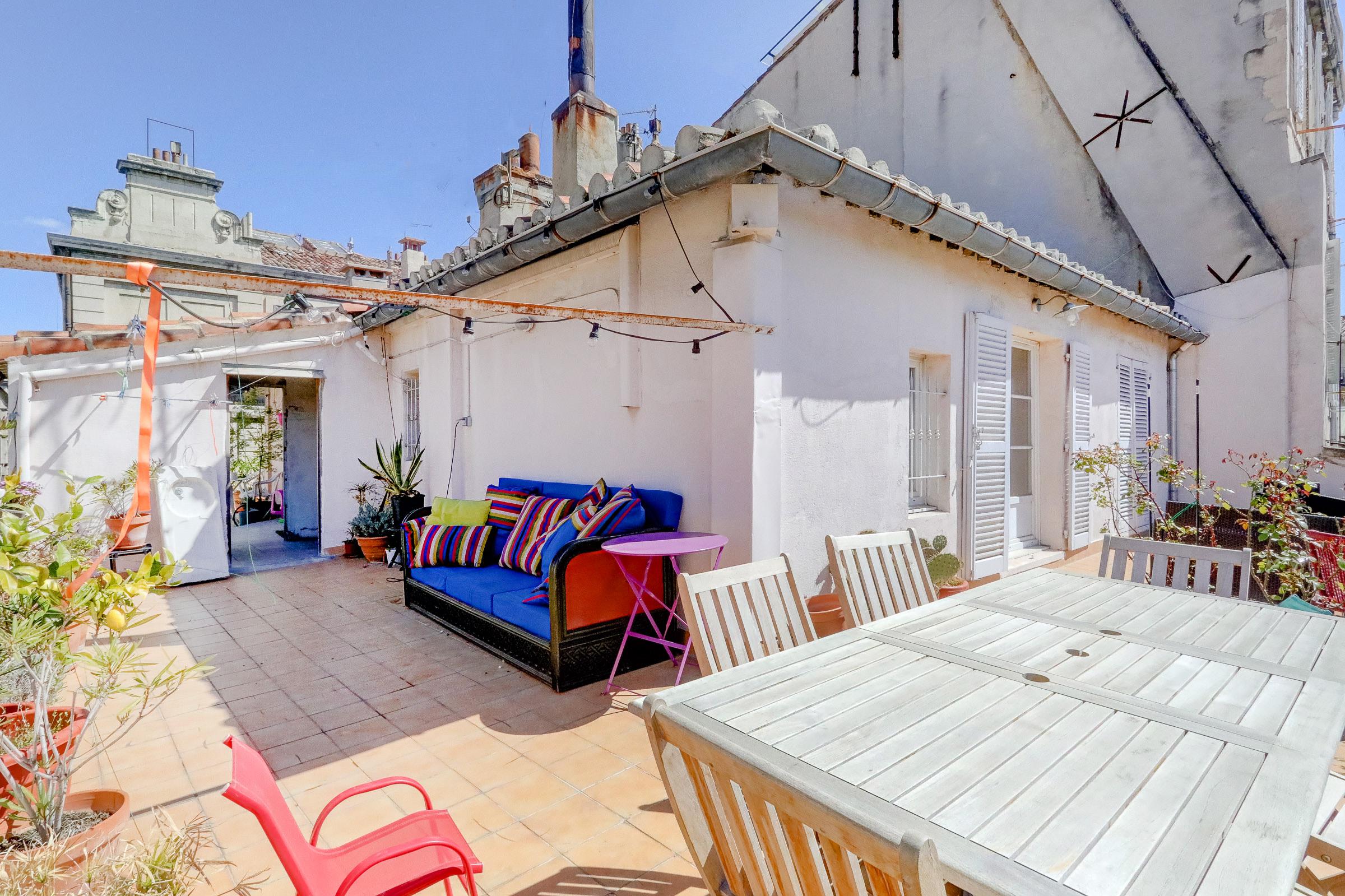 Bel appartement avec terrasse en centre ville ma terrasse marseille - Ma terrasse en ville ...