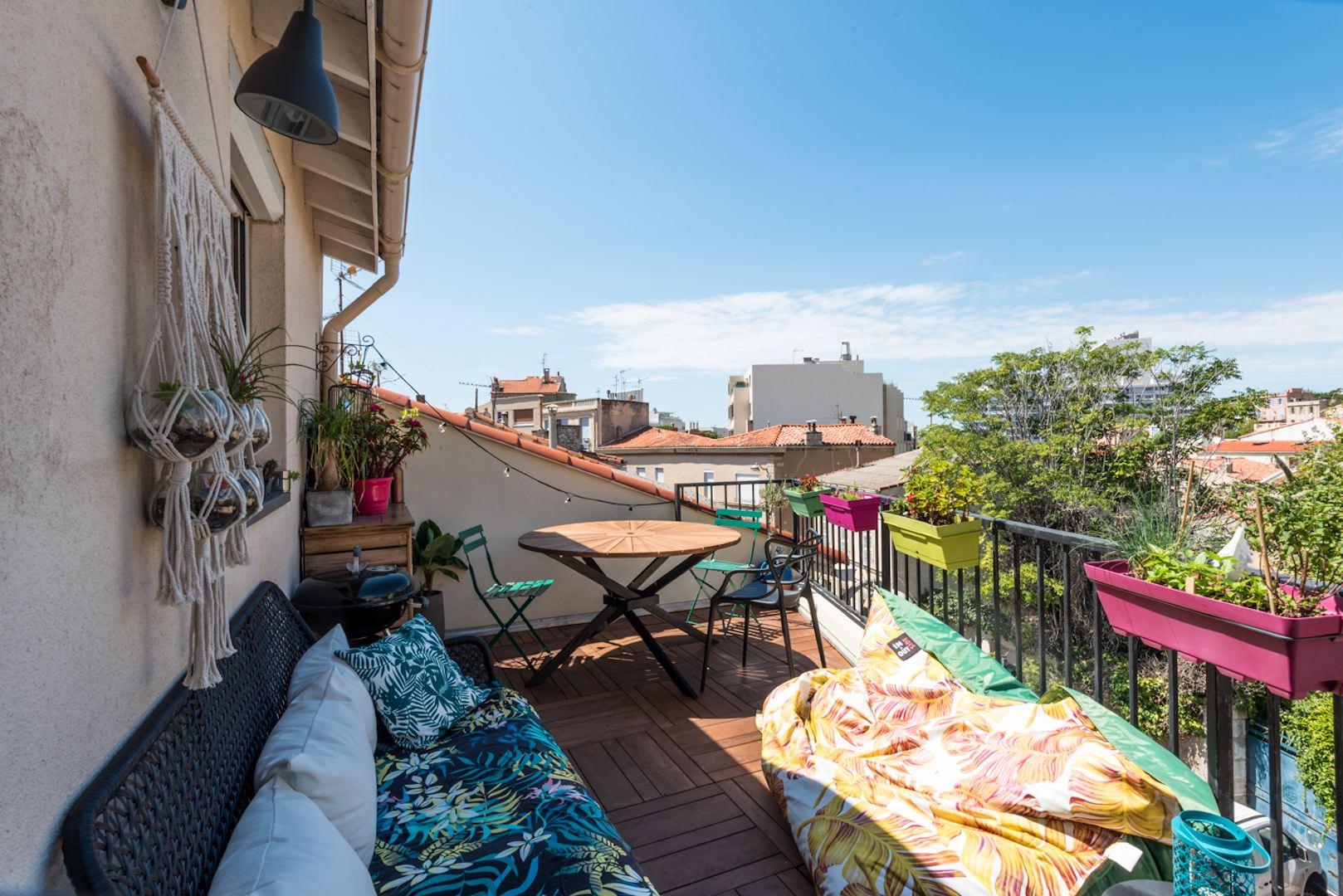 Maison#Terrasse#Place St Eugène#Vallon des Auffes