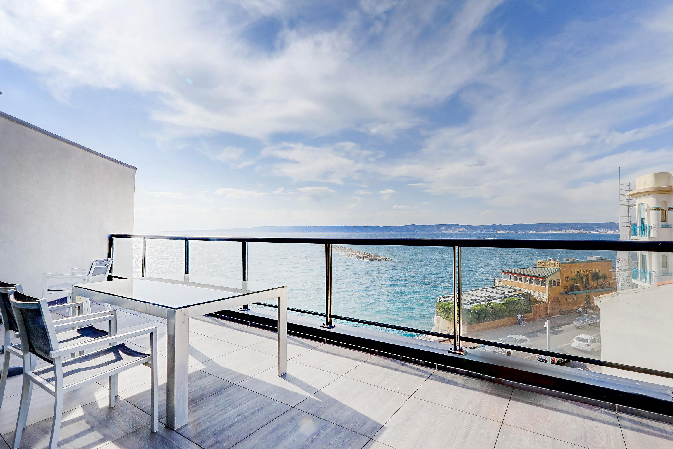 Ma terrasse face à la Mer